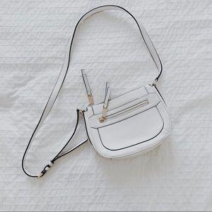 Michael Kors White Pebbled Leather Crossbody